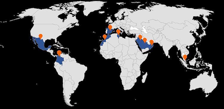 2BS Soluciones Industriales Experiencia en proyectos realizados por todo el mundo